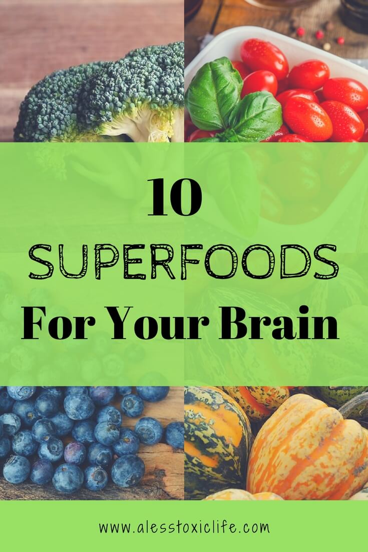 These 10 Superfoods will help your brain be healthy. Fight off disease and live longer.