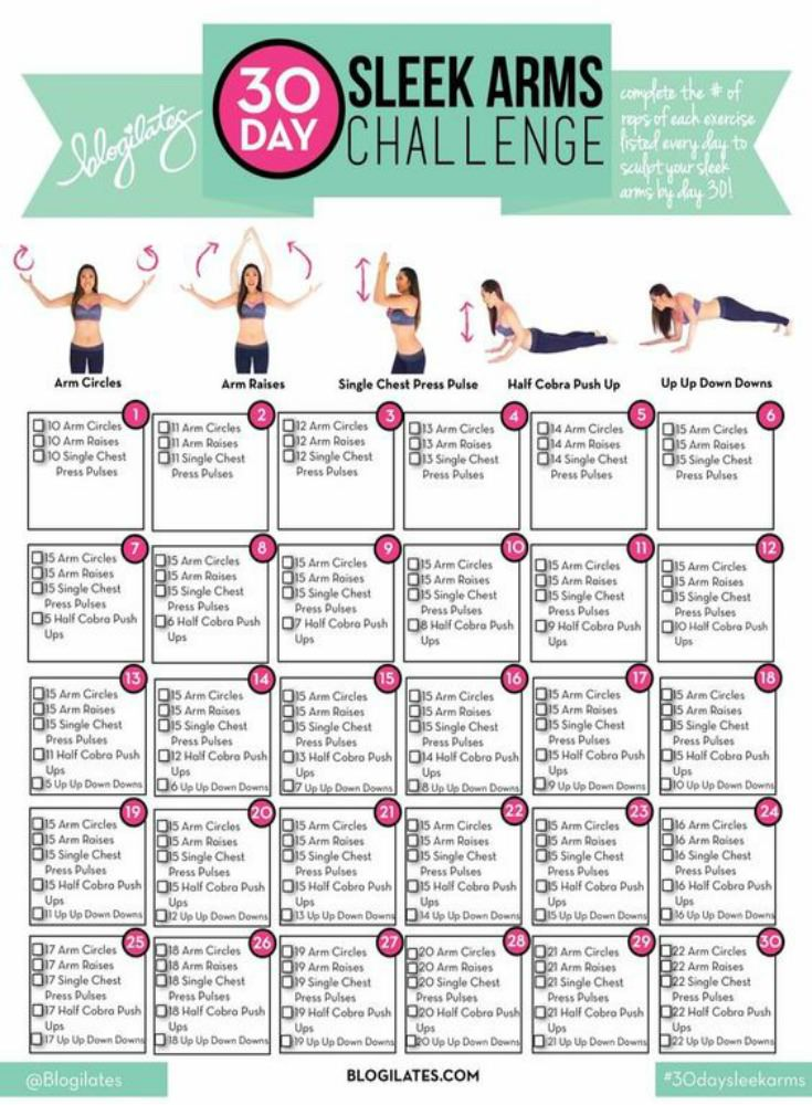 30 Day Arm Challenge Workout - arm workouts for women to do at home. Lose weight for summer. #flabbyarms #workouts #workoutsforwomen #homeworkouts #armworkouts #biceps #summer