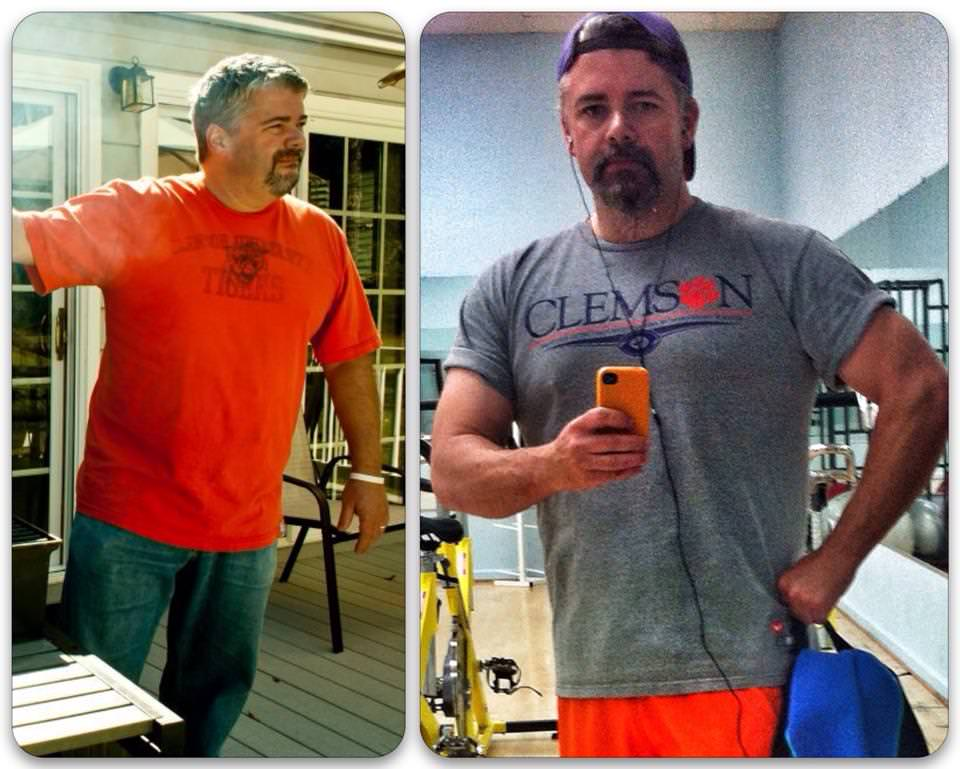 Lee Kirk before and after weight loss photos using the Isagenix 30 day weight loss system.