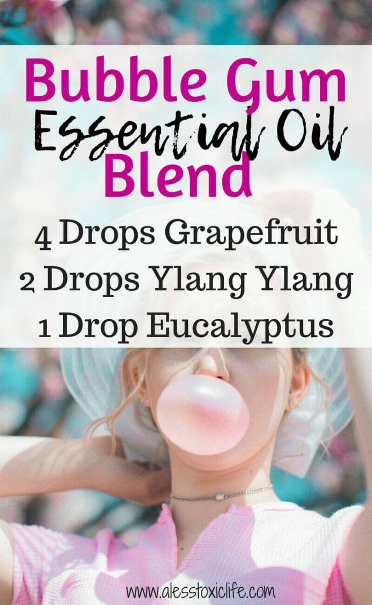 Bubble Gum Essential Oil Blend. Grapefruit, Ylang Ylang and eucalyptus