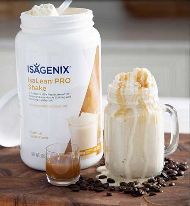 The Isagenix Caramel Latte Protein Shake is sure to be a favorite. It has the perfect mix of caramel and coffee. Meal replacement shake are a great way to eat healthy on the go, as breakfast, for an easy meal at home or part of a weight loss program. Buy Isagenix shakes here.