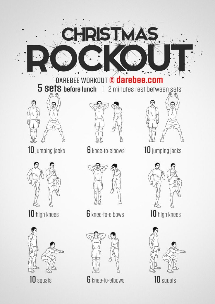 Work off the Christmas Calories. Find more workouts https://www.alesstoxiclife.com/fitness/10-workouts-burn-calories-and-fat/