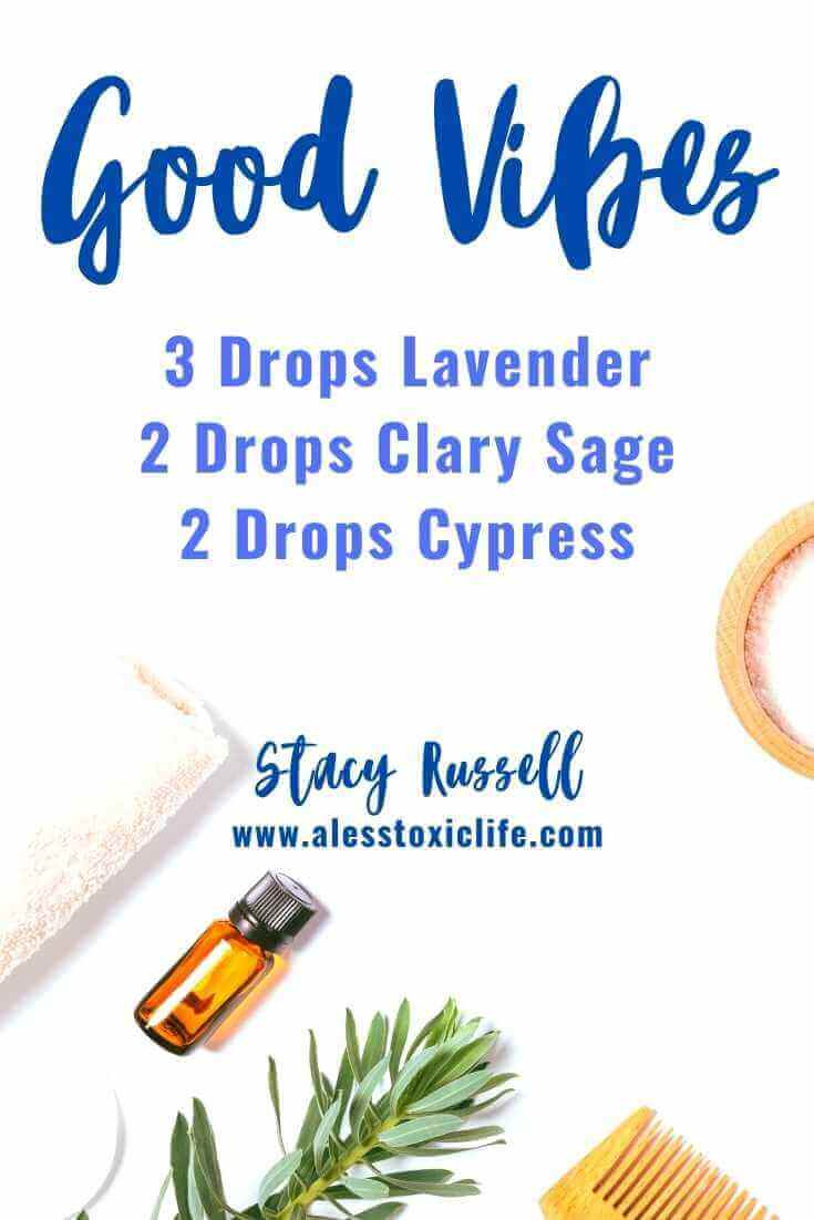 Good Vibes Essential Oil Diffuser Blend Using Clary Sage