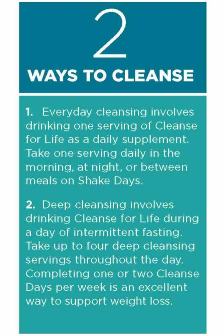 Cleanse Day Schedule