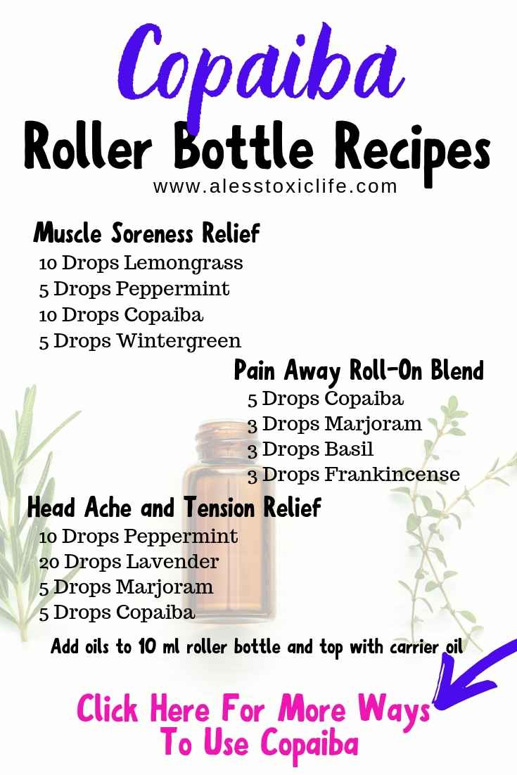 Copaiba Essential oil Roller Bottle Recipes