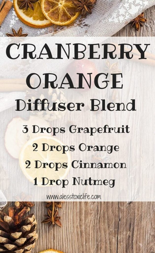 This diffuser blend smells so good. Cranberry Orange Holiday Blend