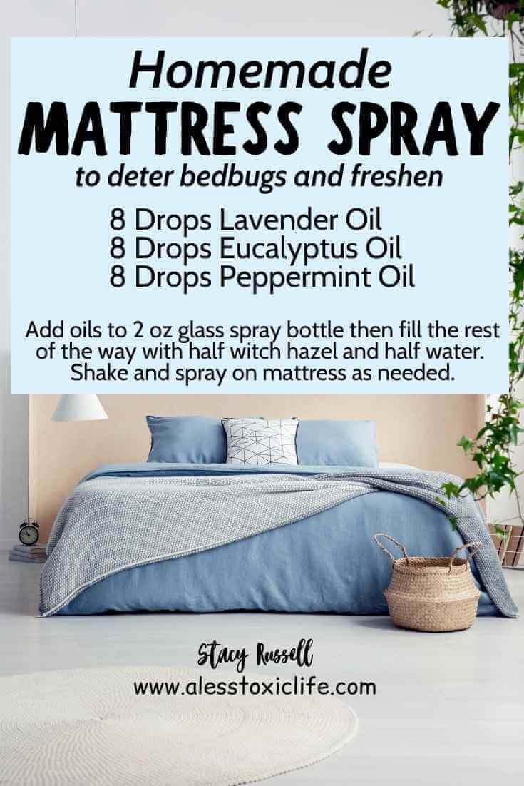 DIY Spray To Repel Bugs and Freshen Your Mattress