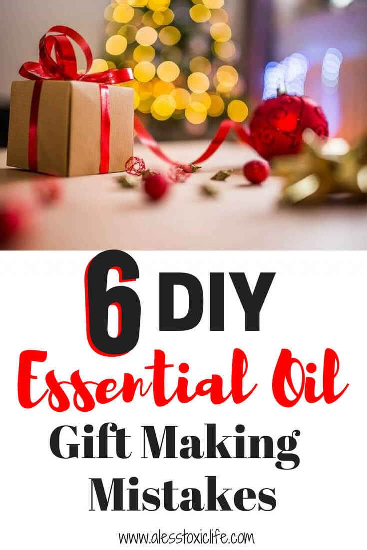 You can avoid these mistakes when making DIY gifts with essential oils
