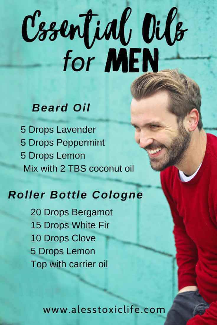 Essential Oil Recipes For Men's Colonge and Beard Oil