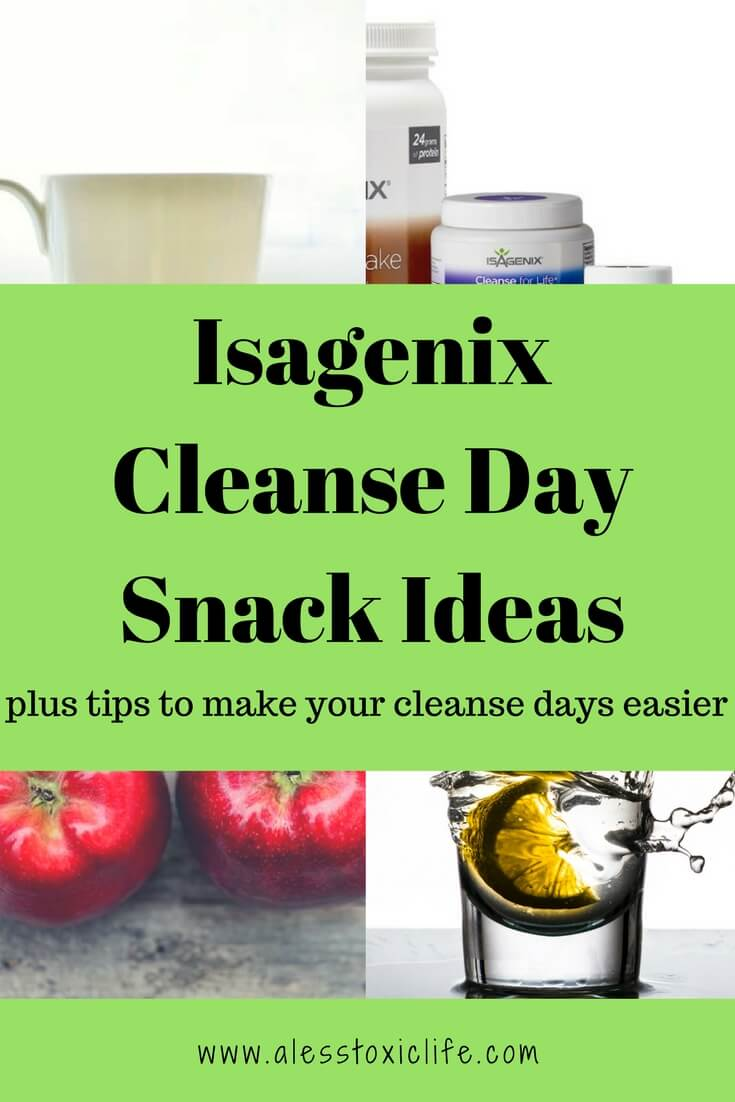 Get ideas to help you on your Isagenix Cleanse Days. What to eat on a cleanse day. Cleanse day snacks.