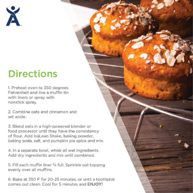 Protein Spice Protein Muffins Directions