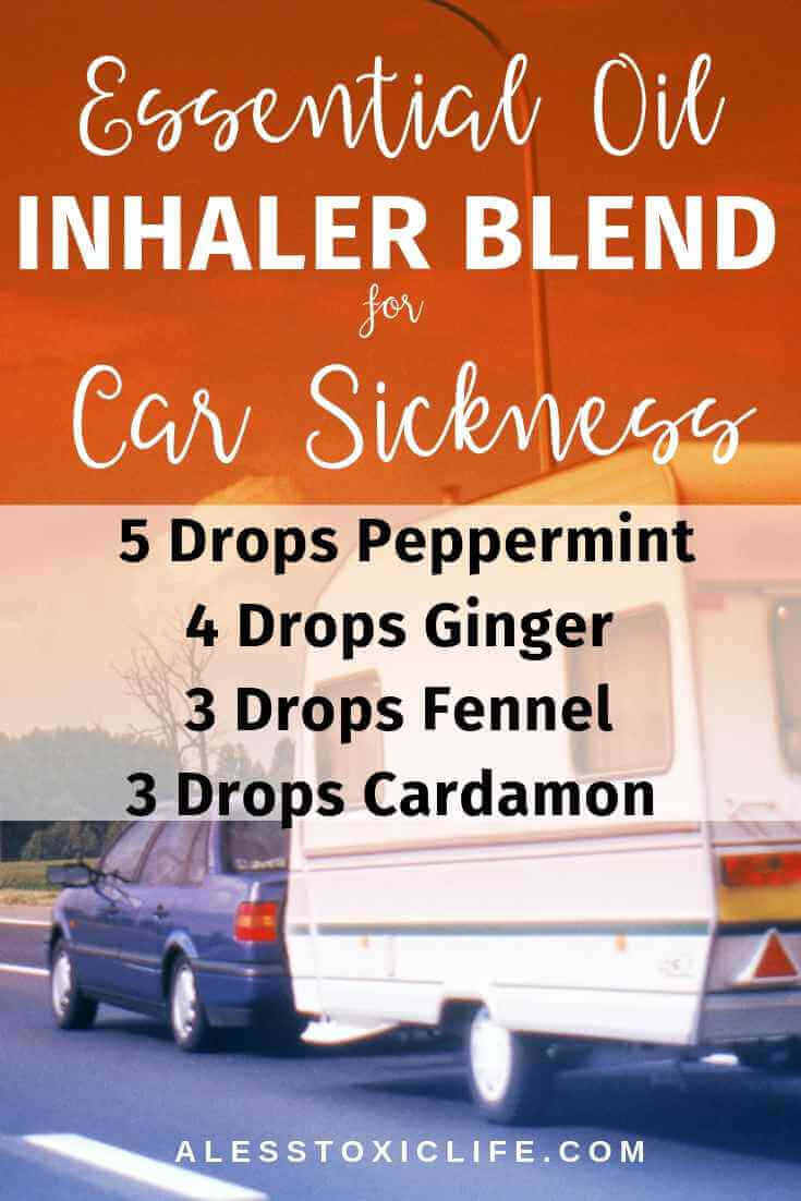Essential oils roller blend for car and motion sickness